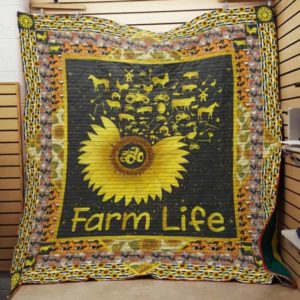 Farm Sunflower Farm Life Quilt Blanket Great Customized Gifts For Birthday Christmas Thanksgiving Perfect Gifts For Sunflower Lover