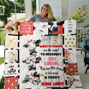 Cow I'm A Cowaholic Quilt Blanket Great Customized Gifts For Birthday Christmas Thanksgiving Perfect Gifts For Cow Lover