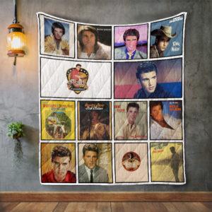 Ricky Nelson 2 Album Covers Quilt Blanket