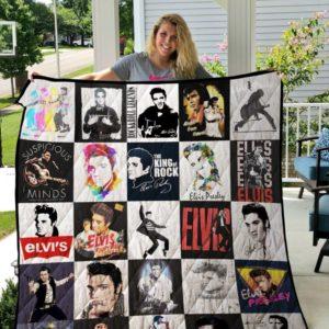 Elvis Presley Tshirt Quilt Blanket