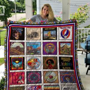 Grateful Dead Albums Cover Quilt Blanket Ver 4