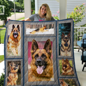 German Shepherd In Every Places Quilt Blanket Great Customized Blanket Gifts For Birthday Christmas Thanksgiving