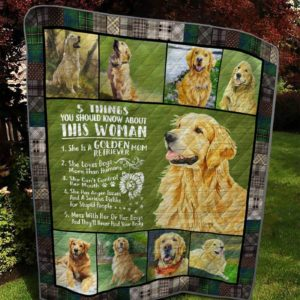 Golden Retriever Mom Five Things You Should Know About Quilt Blanket Great Customized Blanket Gifts For Birthday Christmas Thanksgiving