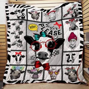 Heifer Please Quilt Blanket Great Customized Gifts For Birthday Christmas Thanksgiving Perfect Gifts For Heifer Lover