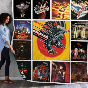 Judas Priest Best Albums Quilt Blanket 02