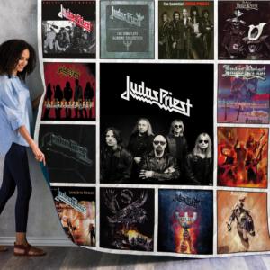 Judas Priest Complication Albums Quilt Blanket