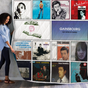 Serge Gainsbourg Albums Quilt Blanket 01