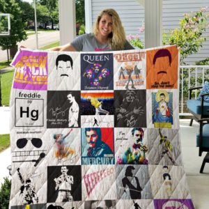 Freddie Mercury T-Shirt Quilt Blanket For Fans