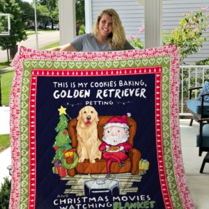 This Is My Cookies Baking Golden Retriever Petting Christmas Quilt Blanket Great Customized Blanket Gifts For Birthday Christmas Thanksgiving