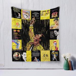 Freddie Mercury T-Shirt Quilt Blanket