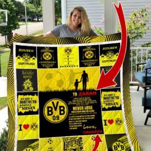 Borussia Dortmund Personalized Name Quilt