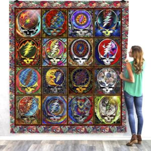 Skull Grateful Dead Steal Your Face All Season Plus Size Quilt Blanket