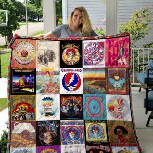 Grateful Dead Albums Cover Poster Quilt Blanket Ver 5