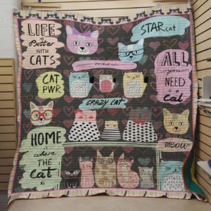 All You Need Is A Cat Quilt Blanket Great Customized Blanket Gifts For Birthday Christmas Thanksgiving