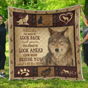 Wolf Quilt Blanket Great Gifts For Birthday Christmas Thanksgiving Anniversary