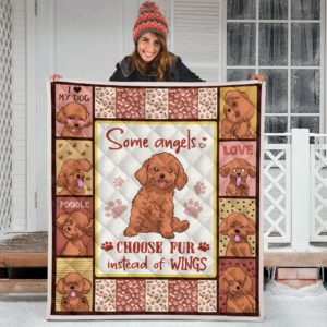 Poodle Quilt Blanket Great Gifts For Birthday Christmas Thanksgiving Anniversary