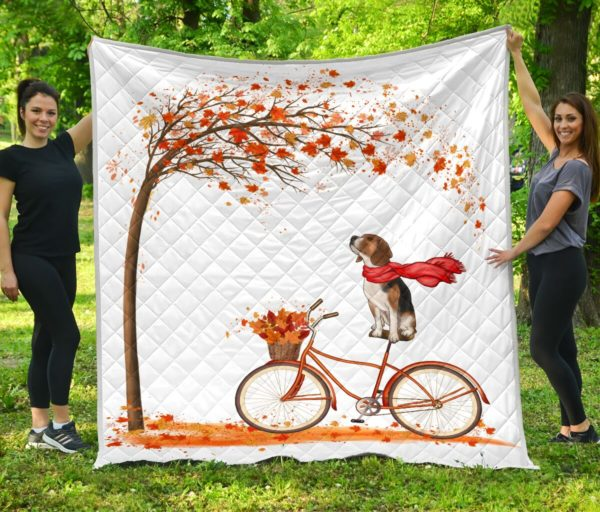 Beagle Quilt Blanket Great Gifts For Birthday Christmas Thanksgiving Anniversary