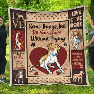 Greyhound Quilt Blanket Great Gifts For Birthday Christmas Thanksgiving Anniversary