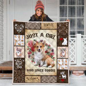 Corgi Quilt Blanket Great Gifts For Birthday Christmas Thanksgiving Anniversary
