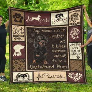Corgi - Quilt Anywoman Can Be A Mother Quilt Blanket Great Gifts For Birthday Christmas Thanksgiving Anniversary