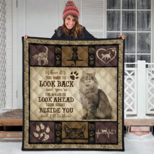 When It's Too Hard To Look Back - Cat Quilt Blanket Great Gifts For Birthday Christmas Thanksgiving Anniversary