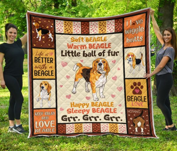 Beagle Love Quilt Blanket Great Gifts For Birthday Christmas Thanksgiving Anniversary