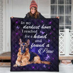German Shepherd - In My Darkest Hour Quilt Blanket Great Gifts For Birthday Christmas Thanksgiving Anniversary