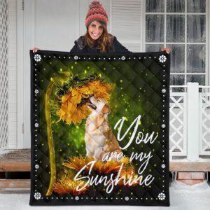 Golden Retriever My Sunshine Quilt Blanket Great Gifts For Birthday Christmas Thanksgiving Anniversary