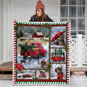 Doberman Quilt Blanket Great Gifts For Birthday Christmas Thanksgiving Anniversary