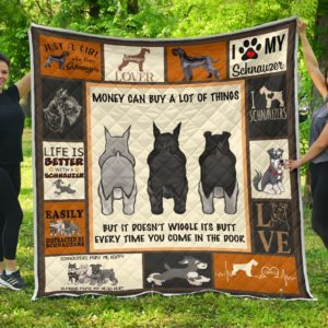 Every Time You Come - Schnauzer Quilt Blanket Great Gifts For Birthday Christmas Thanksgiving Anniversary