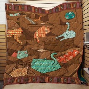 Cat In The Boxes Quilt Blanket Great Customized Blanket Gifts For Birthday Christmas Thanksgiving Anniversary