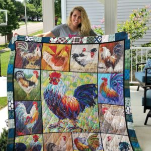 Colorful Chicken Rooster Quilt Blanket Great Customized Blanket Gifts For Birthday Christmas Thanksgiving Anniversary
