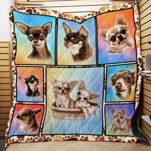 Chihuahua Collection Cute Chihuahua, Dogs In The Bathtub Quilt Blanket Great Customized Blanket Gifts For Birthday Christmas Thanksgiving