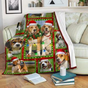 Beagle Christmas Premium Dogs Cute Quilt Blanket , Quilt Bed Set