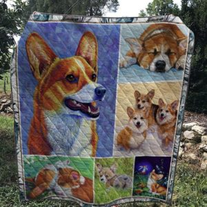 Corgi Dog Face Sleeping Quilt Blanket Great Customized Blanket Gifts For Birthday Christmas Thanksgiving