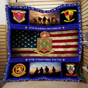 US Marine Corps 5th Marine Regiment Quilt Blanket Great Customized Blanket Gift For Anniversary
