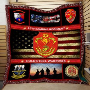 US Marine Corps 25th Marine Regiment Quilt Blanket Great Customized Blanket Gift For Anniversary